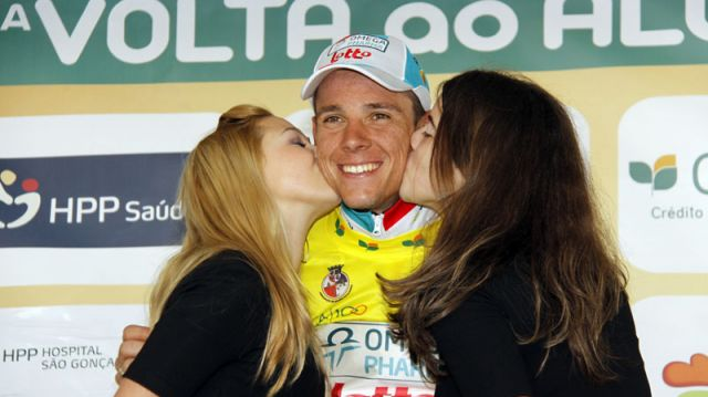 Philippe Gilbert 1er leader du Tour d'Algarve