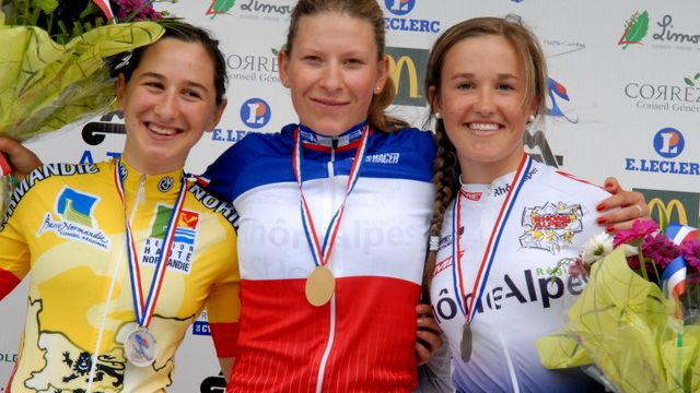 Favre championne de France CLM Juniors dames